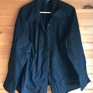 Black Lane Bryant dress shirt Size 28